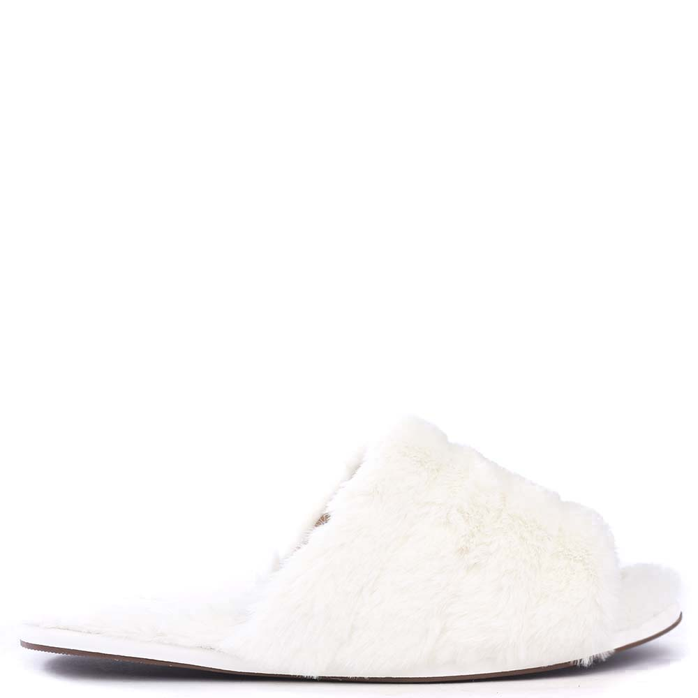 Pantufa Feminina Pelo Juicy Off White