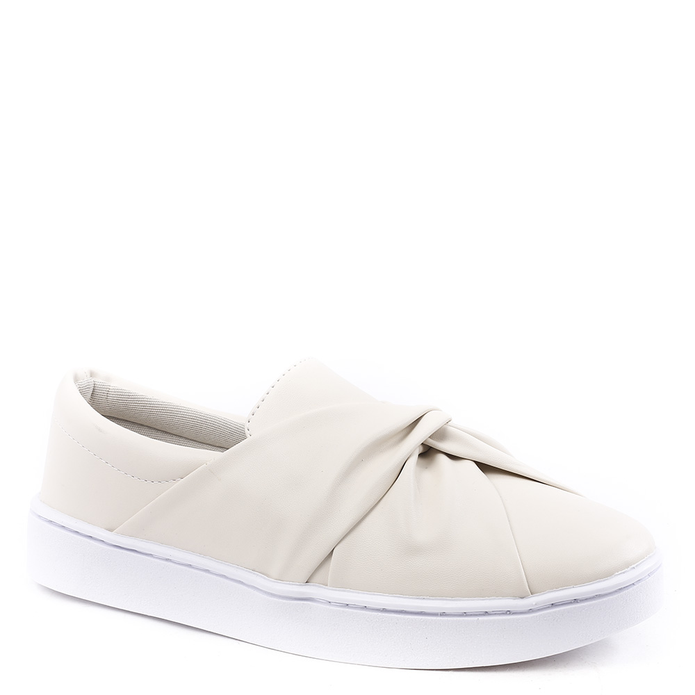 Tenis Copacabana Slip On Tira Torcida Off White